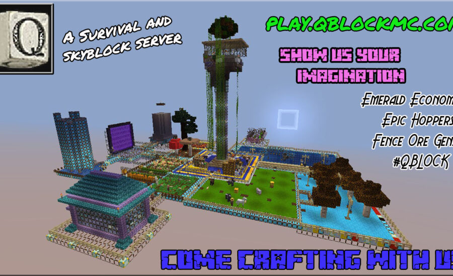 Qblock –  Survival and Skyblock Server Featuring an Emerald economy