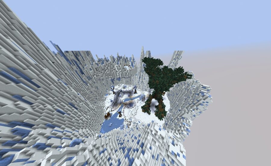 A Frosty-themed Minecraft Server with Skyblock, Factions and KitPvP!
