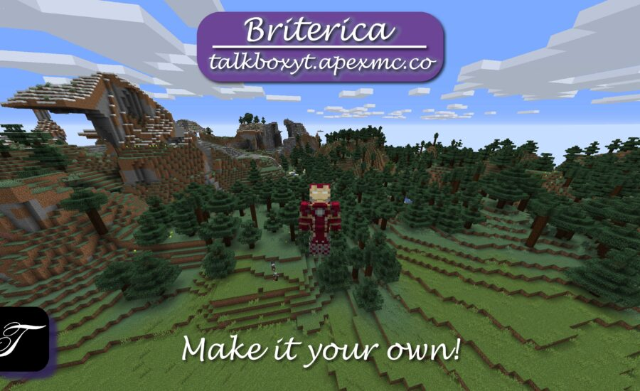 Come and join us in Briterica, Make it your own!