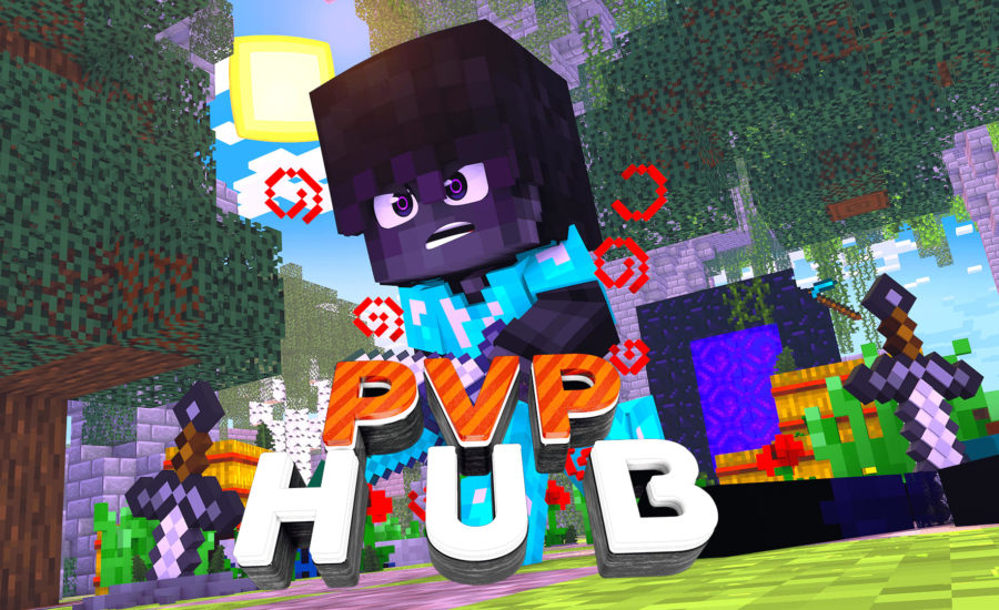 PvP Hub – Bedrock and Java Compatible Kit PvP Server